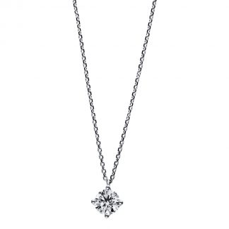 18 kt white gold necklace with 1 diamond 4D734W8-5