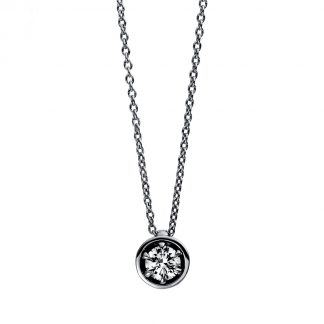 18 kt white gold necklace with 1 diamond 4E011W8-3