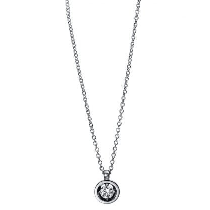 18 kt white gold necklace with 1 diamond 4E017W8-2