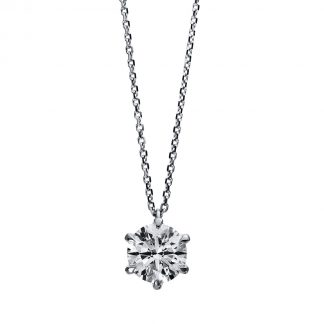 18 kt white gold necklace with 1 diamond 4E052W8-1