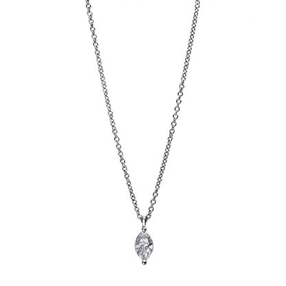 18 kt white gold necklace with 1 diamond 4E454W8-2