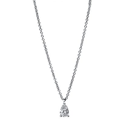 18 kt white gold necklace with 1 diamond 4E466W8-2