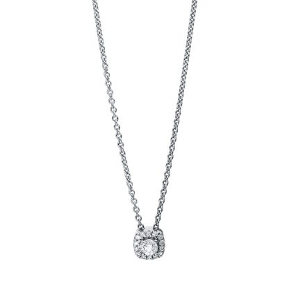 18 kt white gold necklace with 15 diamonds 4E530W8-1