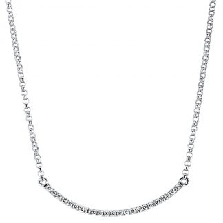 18 kt white gold necklace with 23 diamonds 4A070W8-2