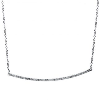 18 kt white gold necklace with 36 diamonds 4B075W8-2