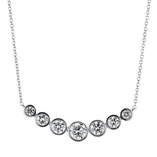 18 kt white gold necklace with 7 diamonds 4A787W8-2