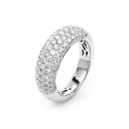 18 kt white gold pavé with 107 diamonds 1A594W853-5