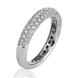 18 kt white gold pavé with 107 diamonds 1B776W853-1