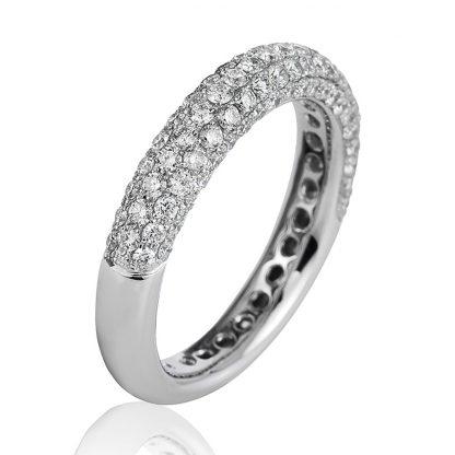 18 kt white gold pavé with 107 diamonds 1B776W853-1