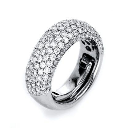 18 kt white gold pavé with 133 diamonds 1L140W853-1