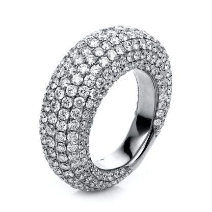 18 kt white gold pavé with 329 diamonds 1C273W856-3