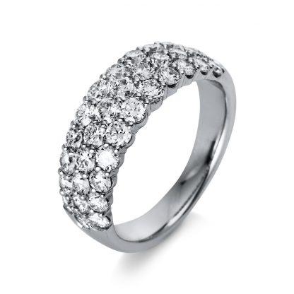 18 kt white gold pavé with 34 diamonds 1Q261W854-1
