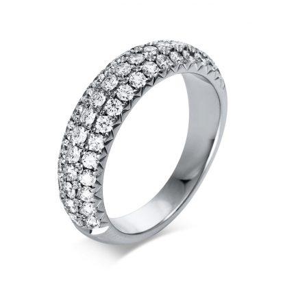18 kt white gold pavé with 51 diamonds 1Q222W853-1