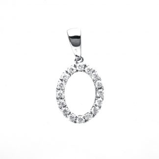 18 kt white gold pendant with 16 diamonds 3A922W8-2