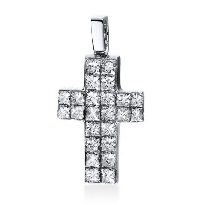 18 kt white gold pendant with 24 diamonds 3D558W8-1