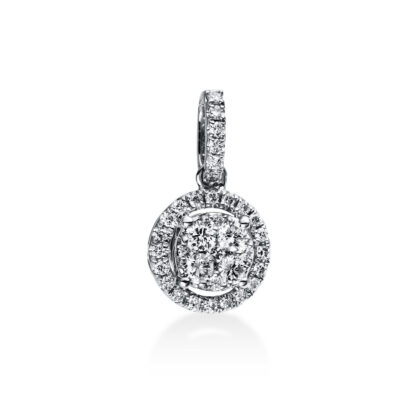 18 kt white gold pendant with 35 diamonds 3C634W8-4