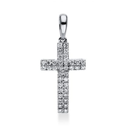 18 kt white gold pendant with 38 diamonds 3D641W8-1