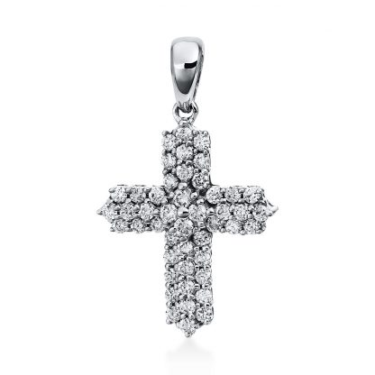 18 kt white gold pendant with 46 diamonds 3D571W8-1