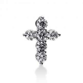 18 kt white gold pendant with 6 diamonds 3B907W8-3