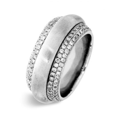 18 kt white gold rotatable ring with 204 diamonds 1A717W856-2