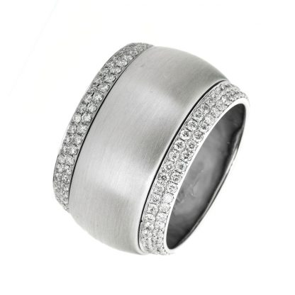 18 kt white gold rotatable ring with 46 diamonds 1A722W856-2