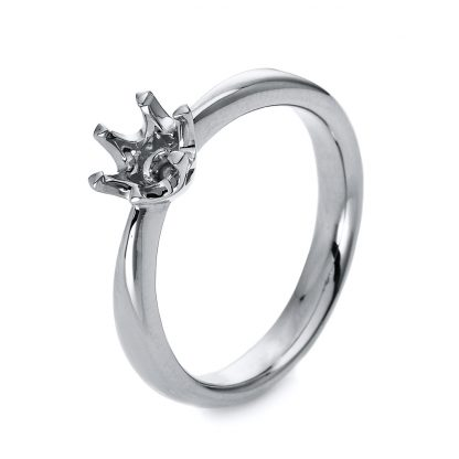 18 kt white gold solitaire  1C485W855-1