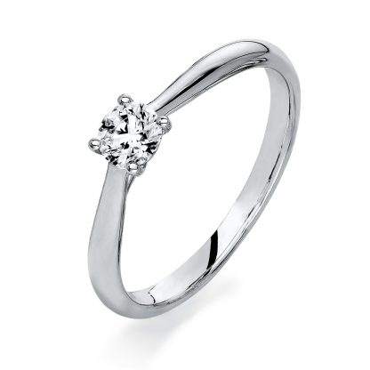 18 kt white gold solitaire with 1 diamond 1A291W854-3