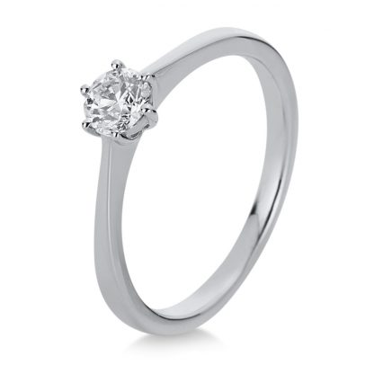 18 kt white gold solitaire with 1 diamond 1A333W853-2