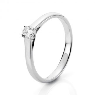 18 kt white gold solitaire with 1 diamond 1A441W852-1