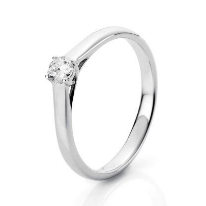 18 kt white gold solitaire with 1 diamond 1A441W856-1