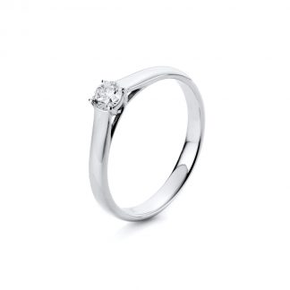 18 kt white gold solitaire with 1 diamond 1A442W854-8