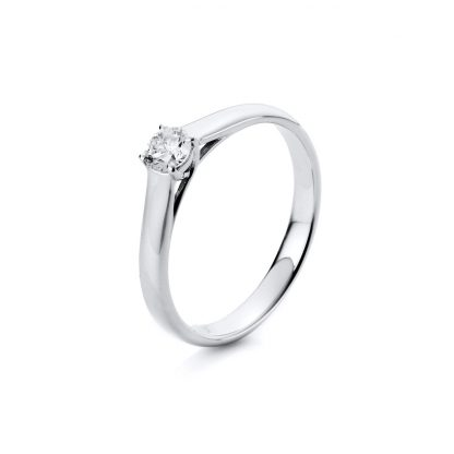 18 kt white gold solitaire with 1 diamond 1A442W856-1