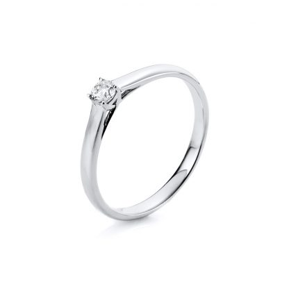 18 kt white gold solitaire with 1 diamond 1A443W854-1