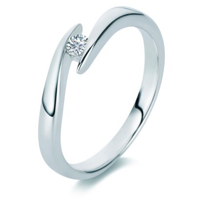 18 kt white gold solitaire with 1 diamond 1A487W852-1