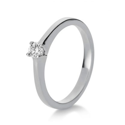18 kt white gold solitaire with 1 diamond 1A745W853-1