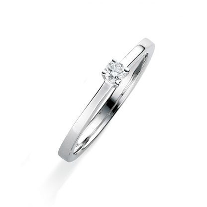 18 kt white gold solitaire with 1 diamond 1A749W853-1