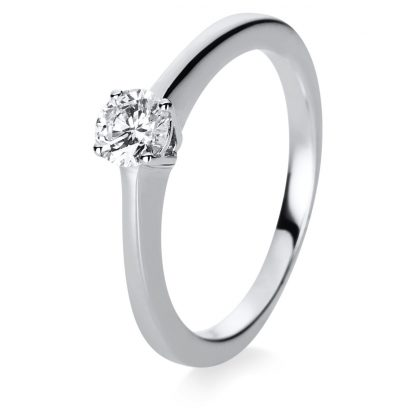 18 kt white gold solitaire with 1 diamond 1B850W855-1