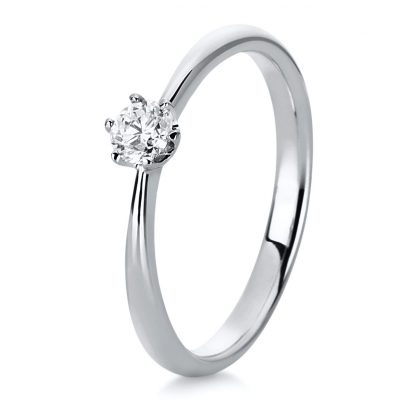 18 kt white gold solitaire with 1 diamond 1C480W851-4