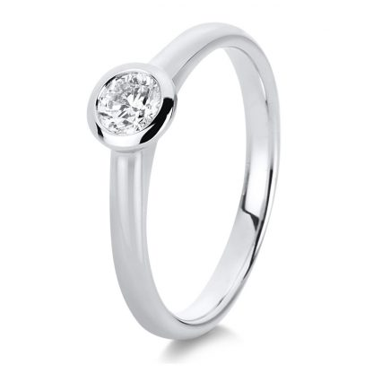 18 kt white gold solitaire with 1 diamond 1C533W856-1