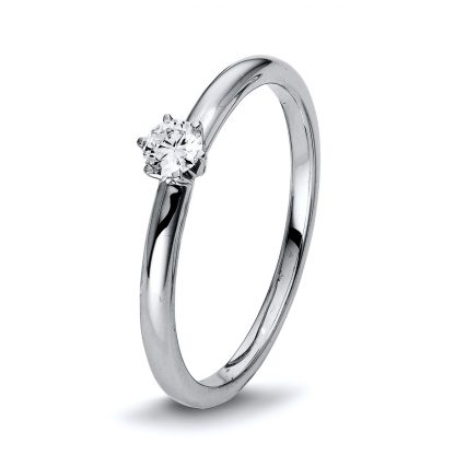 18 kt white gold solitaire with 1 diamond 1Q401W855-1