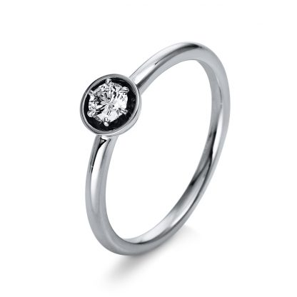 18 kt white gold solitaire with 1 diamond 1Q410W854-1