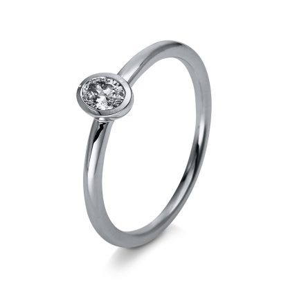 18 kt white gold solitaire with 1 diamond 1R888W853-1