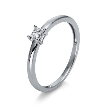 18 kt white gold solitaire with 1 diamond 1R942W853-1