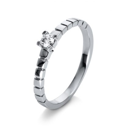 18 kt white gold solitaire with 5 diamonds 1Q386W855-1