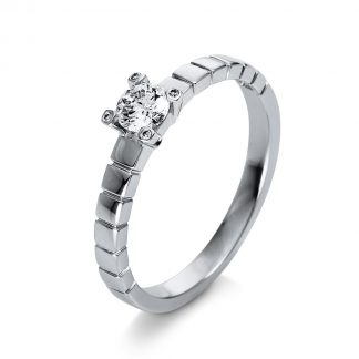 18 kt white gold solitaire with 5 diamonds 1Q392W855-1