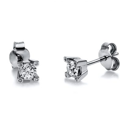 18 kt white gold studs with 10 diamonds 2H128W8-3