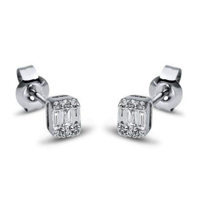 18 kt white gold studs with 18 diamonds 2G794W8-1