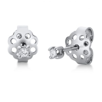 18 kt white gold studs with 2 diamonds 2A813W8-1