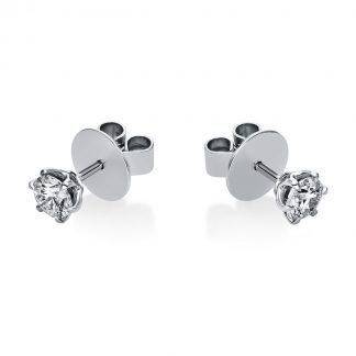 18 kt white gold studs with 2 diamonds 2F670W8-1