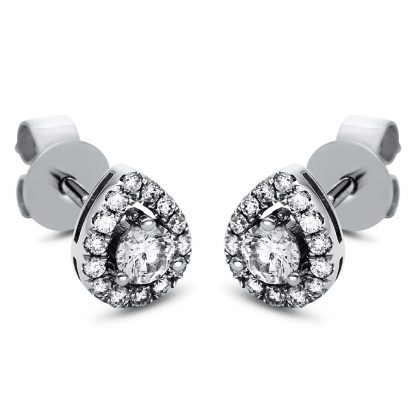 18 kt white gold studs with 30 diamonds 2H857W8-1